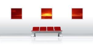 Rouge de siège d'aéroport photo stock