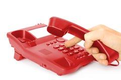 rouge de téléphone Image stock