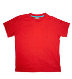 Rouge de T-shirt Images libres de droits