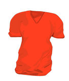 Rouge de T-shirt Photos stock
