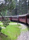 Rouge de train de vapeur consécutivement Photographie stock