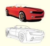 rouge de véhicule images stock