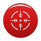 Rouge de vecteur d'icône de cercle de pousse illustration de vecteur