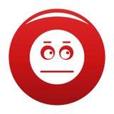 Rouge de vecteur d'icône de sourire illustration stock