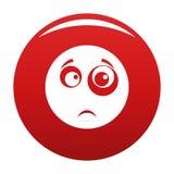 Rouge de vecteur d'icône de sourire illustration libre de droits