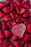 Rouge doux de symbole d'amour de coeur de sucrerie de jour de valentines Images stock