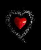 Rouge entendu au coeur du sucre Photos stock