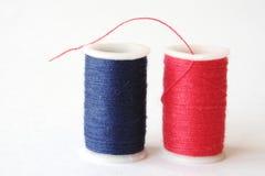 Rouge et amorçage bleu Photos libres de droits