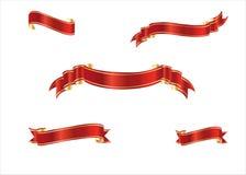 Rouge et bandes d'or Image stock