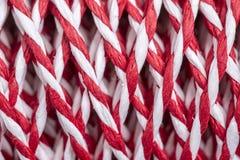 Rouge et blanc de ficelle Image libre de droits