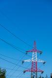 Rouge et blanc de pylône Image libre de droits