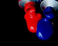 Rouge et bleu Image libre de droits