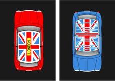 Rouge et bleu Illustration Libre de Droits