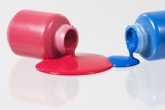 Rouge et bleu Photos libres de droits