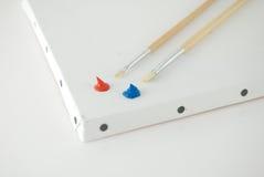 Rouge et bleu Photographie stock libre de droits