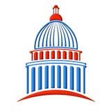 Rouge et bleu de logo de bâtiment de capitol Photographie stock
