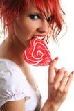 Rouge et bonbon Photos stock