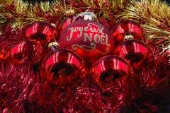 Rouge et or de boules de Noël Photo libre de droits