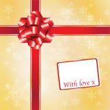 Rouge et or de cadeau de Noël Photo libre de droits
