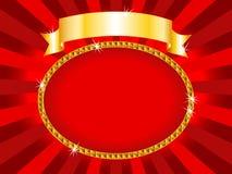 Rouge et or de panneau-réclame illustration stock