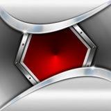 Rouge et fond d'affaires en métal Images libres de droits