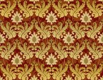 Rouge et fond de la Renaissance d'or illustration libre de droits