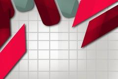 rouge et ligne grise et épaisse, fond abstrait Photographie stock libre de droits