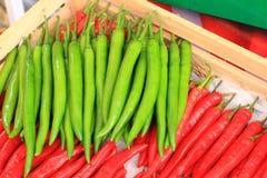 Rouge et poivron vert Photos libres de droits