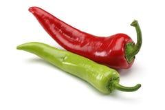 Rouge et poivrons verts photos stock