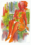 Rouge et sexy, no.1 illustration stock