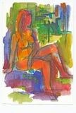 Rouge et sexy, no.2 illustration libre de droits