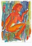 Rouge et sexy, no.3 illustration de vecteur