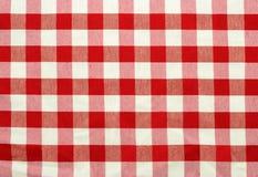 Rouge et tissu vérifié par blanc Photos libres de droits