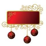 Rouge et trame de Noël d'or d'isolement illustration de vecteur