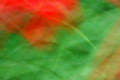Rouge et vert dans le mouvement Photographie stock libre de droits