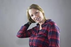 Rouge femelle de sourire 4 Photographie stock libre de droits