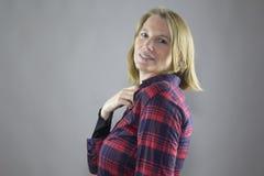 Rouge femelle de sourire 6 Images libres de droits