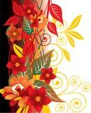 rouge floral de fond Photos stock