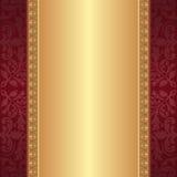 Rouge foncé et fond d'or Photo stock