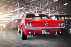 1966 rouge Ford Mustang Photographie stock libre de droits