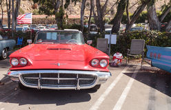 Rouge Ford Thunderbird 1963 Photographie stock