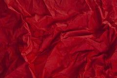 Rouge froissé de texture de tissu Photo libre de droits