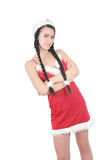 rouge gentil de fille de costume image libre de droits