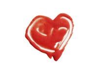 Rouge heurté en forme de coeur Image libre de droits