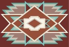 Rouge indigène 1 de fond de sud-ouest abstrait illustration de vecteur
