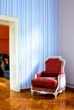 rouge intérieur de fauteuil Images libres de droits