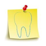 Rouge jaune Pin Tooth de bâton Image stock
