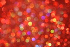Rouge, jaune, turquoise, bokeh abstrait pourpre - Noël et fond parfaits de Valentine Photo libre de droits