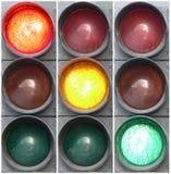 Rouge, jaune, vert - 2 photos libres de droits