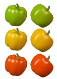 Rouge jaune vert de poivron Photographie stock libre de droits